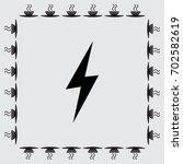 vector lightning icon | Shutterstock .eps vector #702582619