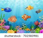 vector illustration of cartoon... | Shutterstock .eps vector #702583981