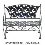Decorative Bench Isolated On...