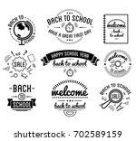 back to school typography... | Shutterstock . vector #702589159