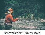 fishing | Shutterstock . vector #702594595