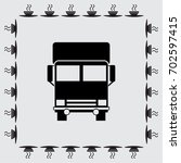 vector icon of a truck | Shutterstock .eps vector #702597415