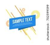 abtract geometric modern style...   Shutterstock .eps vector #702599599