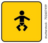 child changing station sign... | Shutterstock .eps vector #702607459