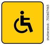 wc toilet disabled accessible... | Shutterstock .eps vector #702607465