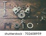 the phrase i love moto built of ...   Shutterstock . vector #702608959