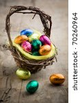 Colorful Chocolate Easter Eggs...