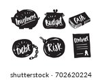 hand drawn caligraphy in... | Shutterstock .eps vector #702620224