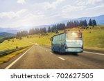 tourist bus rides on the