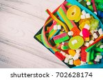 candies on a plate | Shutterstock . vector #702628174