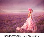beautiful young woman in the... | Shutterstock . vector #702630517