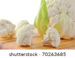 Cauliflower Cabbage On Wooden...