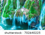 Amazing Frozen Waterfall