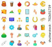 command icons set. cartoon... | Shutterstock .eps vector #702651739