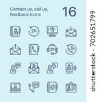 outline contact us  call us ... | Shutterstock .eps vector #702651799