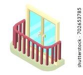 stylish balcony icon. isometric ... | Shutterstock .eps vector #702653785