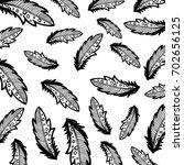feather background hand drawn | Shutterstock . vector #702656125