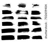 vector thick brushes. hand... | Shutterstock .eps vector #702659404