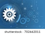 technological abstract gear... | Shutterstock .eps vector #702662011