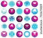 set of perspective technology... | Shutterstock . vector #702670009
