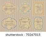 set of retro frames design.... | Shutterstock .eps vector #70267015