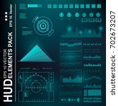 futuristic virtual graphic... | Shutterstock .eps vector #702673207