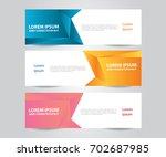 set of  vector design banner... | Shutterstock .eps vector #702687985