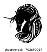 unicorn horse with long mane...   Shutterstock . vector #702690019