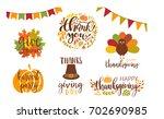 vector collection of autumn... | Shutterstock .eps vector #702690985
