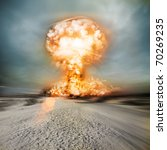 a modern nuclear bomb explosion ... | Shutterstock . vector #70269235