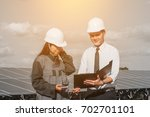 engineer working on checking... | Shutterstock . vector #702701101