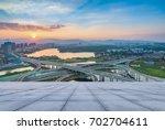 shanghai elevated road junction ...   Shutterstock . vector #702704611