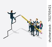 businessman walking on profit... | Shutterstock .eps vector #702705421