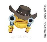 vector smiley of a wild west... | Shutterstock .eps vector #702712651