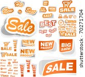 vector set of sale design... | Shutterstock .eps vector #70271704