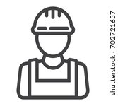 builder line icon  build and... | Shutterstock .eps vector #702721657