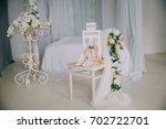 bridal accessories on a white...   Shutterstock . vector #702722701