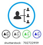 patient relations rounded icon. ... | Shutterstock .eps vector #702722959