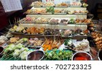 lok lok the famoush street food ... | Shutterstock . vector #702723325