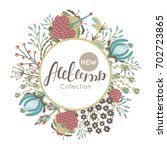 new autumn collection. fall.... | Shutterstock .eps vector #702723865