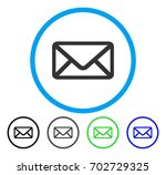 envelope rounded icon. vector... | Shutterstock .eps vector #702729325