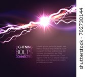 electric effect with connected... | Shutterstock .eps vector #702730144