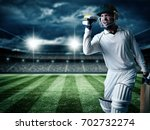Cricket player batsman showing...