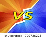 versus letters fight... | Shutterstock .eps vector #702736225