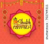 illustration of happy navratri... | Shutterstock .eps vector #702749311