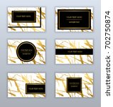set of white and gold business... | Shutterstock .eps vector #702750874