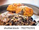 detail of cream ragout from... | Shutterstock . vector #702751531