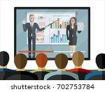 onlinetraining staff  business... | Shutterstock .eps vector #702753784