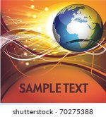 vector illustration with globe... | Shutterstock .eps vector #70275388