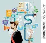 brainstorm of businessman... | Shutterstock .eps vector #702760279
